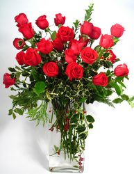 Red Holiday Roses  from Mockingbird Florist in Dallas, TX