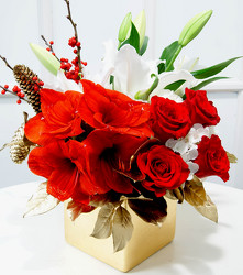 Dallas delivery of Christmas Flowers, gifts, decor, centerpieces and more