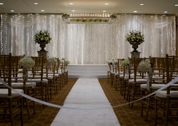 Fairmont Hotel Wedding Ceremony from Mockingbird Florist in Dallas, TX