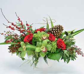 Christmas Celebration Centerpiece  from Mockingbird Florist in Dallas, TX