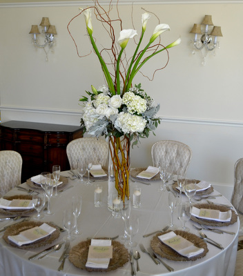 Table Decotations from Mockingbird Florist in Dallas, TX