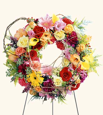 Ring of Friendship Wreath from Mockingbird Florist in Dallas, TX