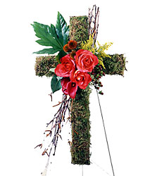 The Living Cross Easel from Mockingbird Florist in Dallas, TX