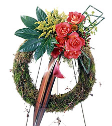 Never-ending Love Wreath from Mockingbird Florist in Dallas, TX