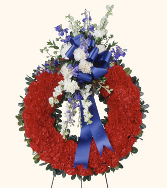 All American Tribute Wreath from Mockingbird Florist in Dallas, TX