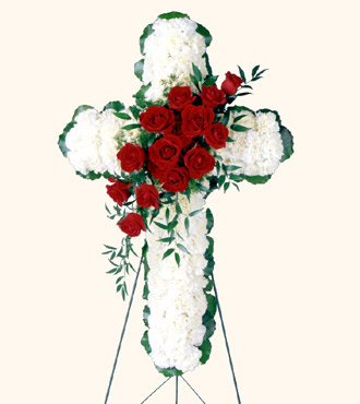 Floral Cross Arrangement from Mockingbird Florist in Dallas, TX