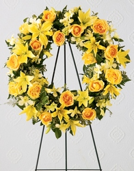 Ring of Friendship Wreath Sympathy  from Mockingbird Florist in Dallas, TX