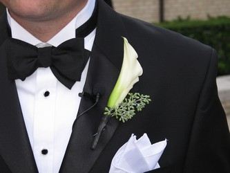 Boutonniere from Mockingbird Florist in Dallas, TX