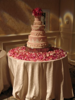 Wedding Cake decor Four Seasons Resort from Mockingbird Florist in Dallas, TX