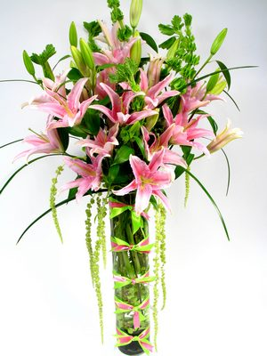 Lilies and Bows Flowers   from Mockingbird Florist in Dallas, TX